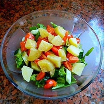 Tiết lộ bí quyết cách làm salad khoai tây giảm cân cho phái đẹp