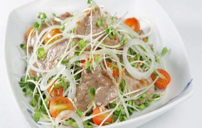 Cách làm salad rau mầm thịt bò cực ngon và dễ
