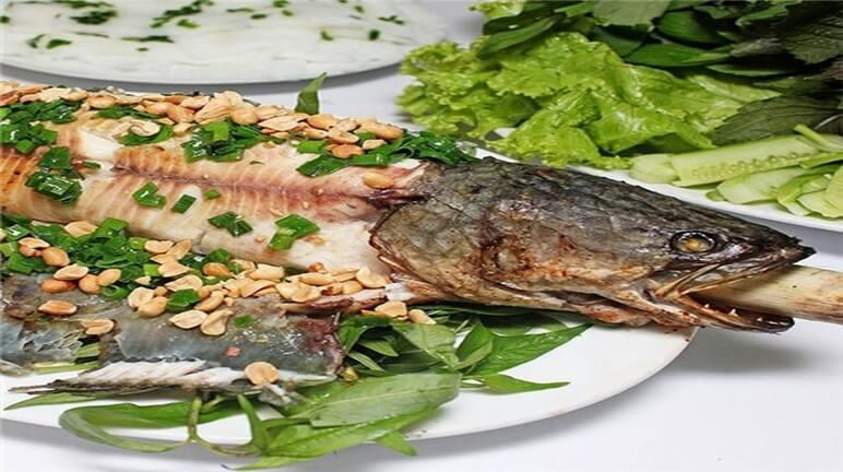 cá lóc nướng mỡ hành 1