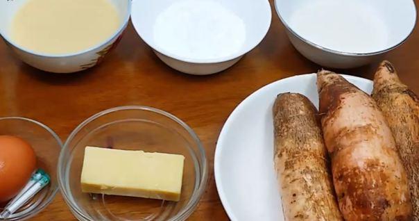 cách làm bánh khoai mì nướng không cần lò nướng 1