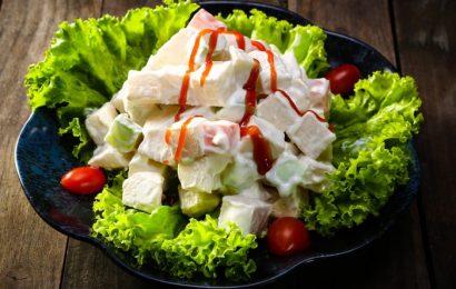 Thơm ngon với salad trái cây trộn mayonnaise tại nhà