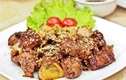 Bò nướng mè – món ăn ngon, nguyên liệu dễ kiếm