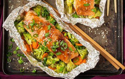 Món cá hồi nướng giấy bạc thơm ngon và bổ dưỡng
