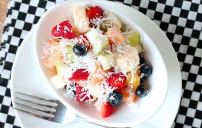 Hướng dẫn cách làm salad hoa quả trộn giảm cân