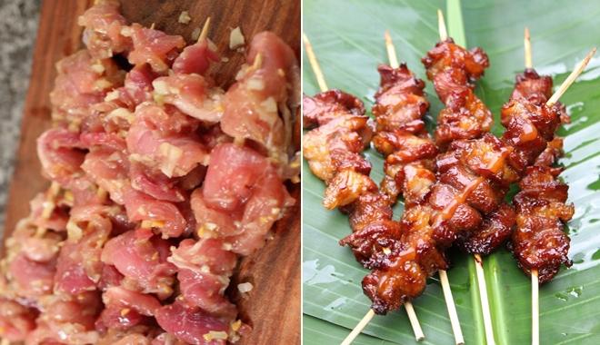 cách làm thịt xiên nướng thơm ngon 1