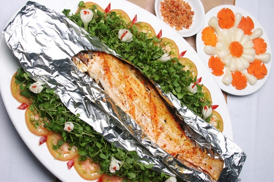 Đơn giản thơm ngon với cá thu nướng giấy bạc