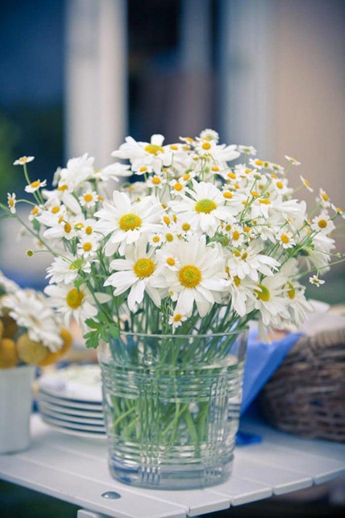 cách cắm hoa cúc trắng ngày Tết