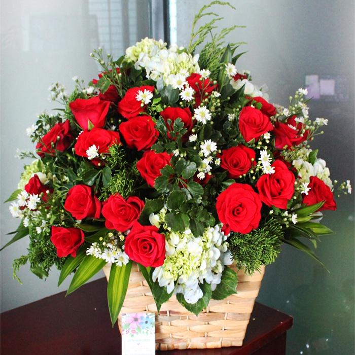 cách chọn và cắm hoa hồng