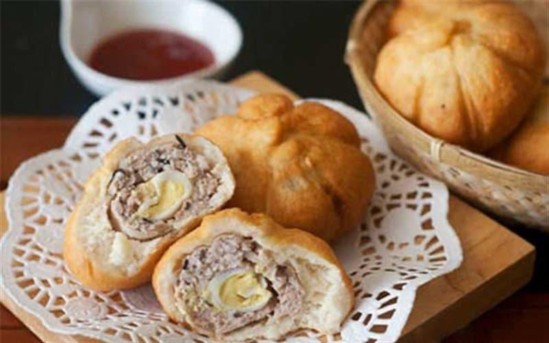 cách làm bánh bao chiên nhân thịt 4