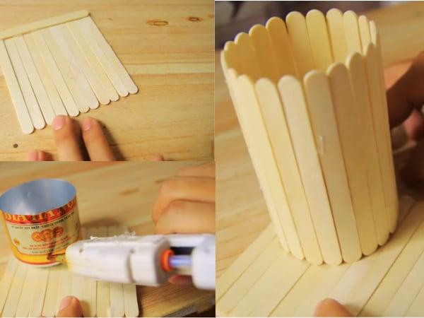 cách làm hộp đựng bút bằng que kem 1