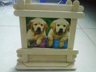 Cách làm khung ảnh handmade bằng que kem đẹp lạ