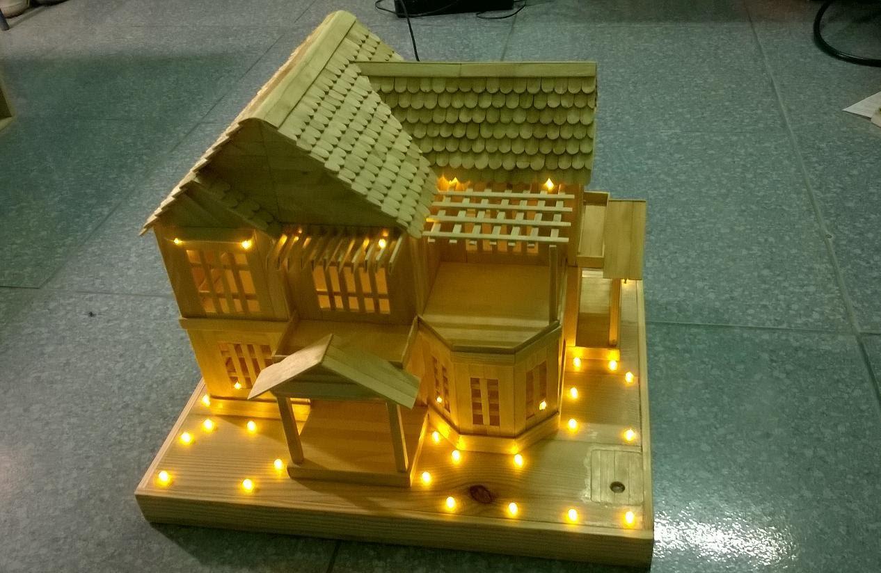 cách làm ngôi nhà bằng que kem2